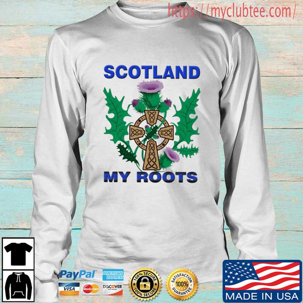Scotland My Roots Classic Shirt Longsleeve trang