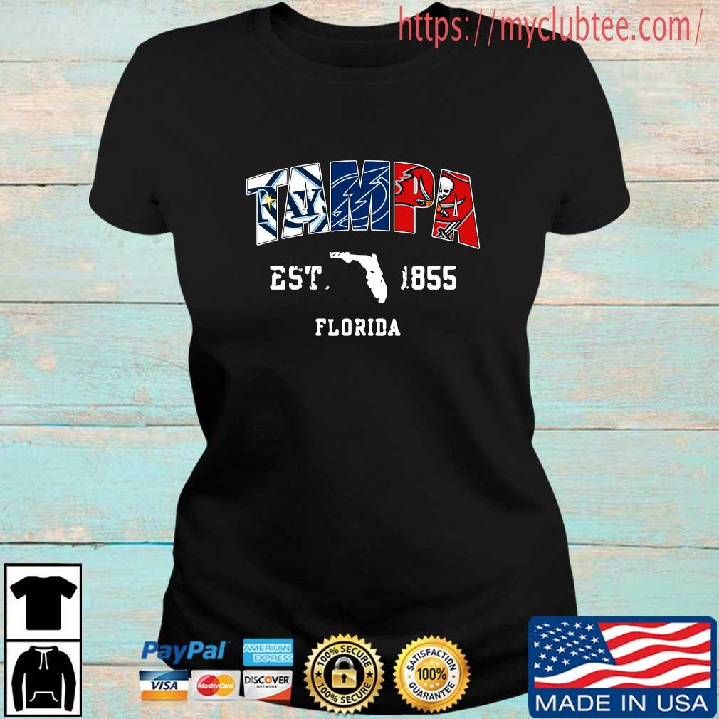Tampa Tampa Bay Rays Tampa Bay Lightning Tampa Bay Buccaneers est 1855 Florida s Ladies den
