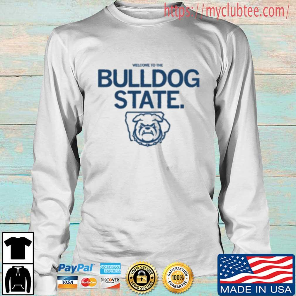 Welcome To The Bulldog State Logo Shirt Longsleeve trang