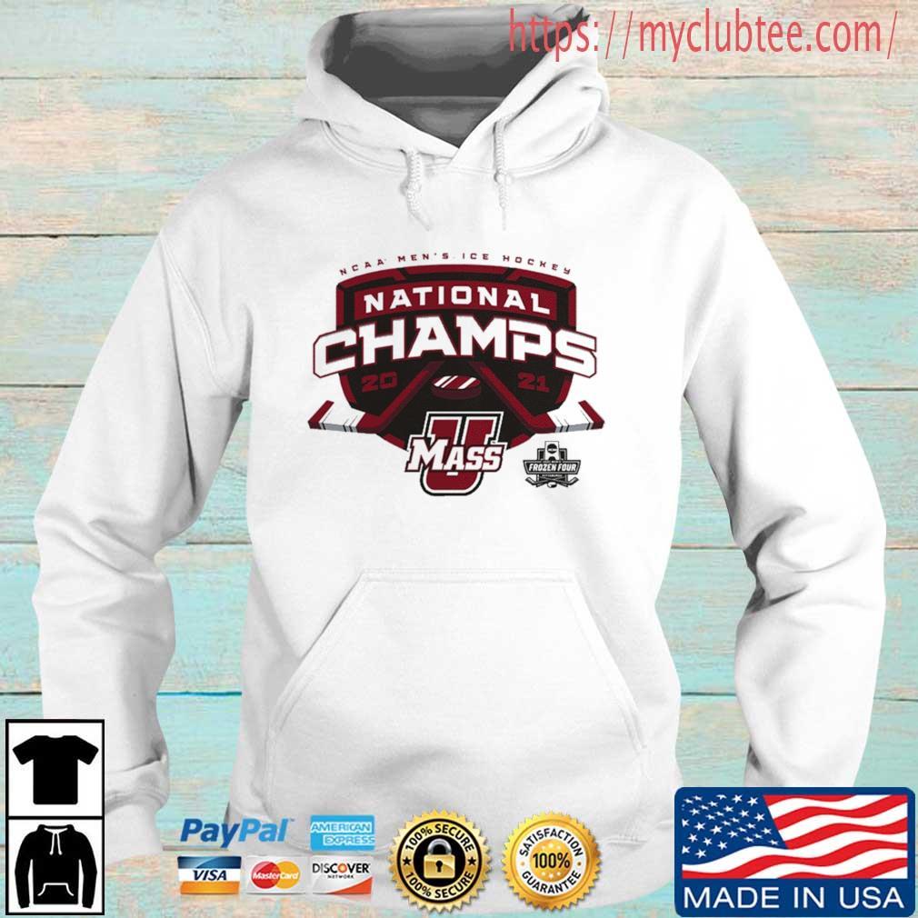 2021 Ncaa Men's Ice Hockey National Champions Shirt Hoodie trang