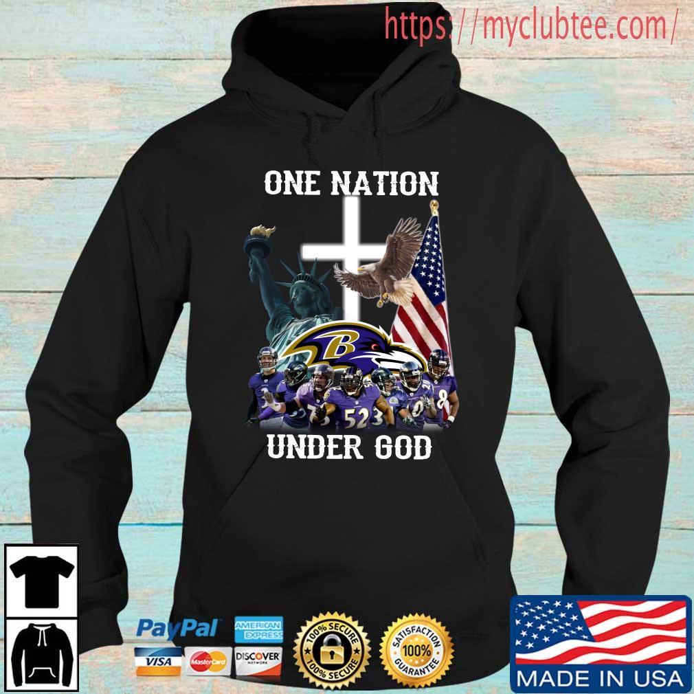 Baltimore Ravens One Nation Under God Shirt Hoodie den