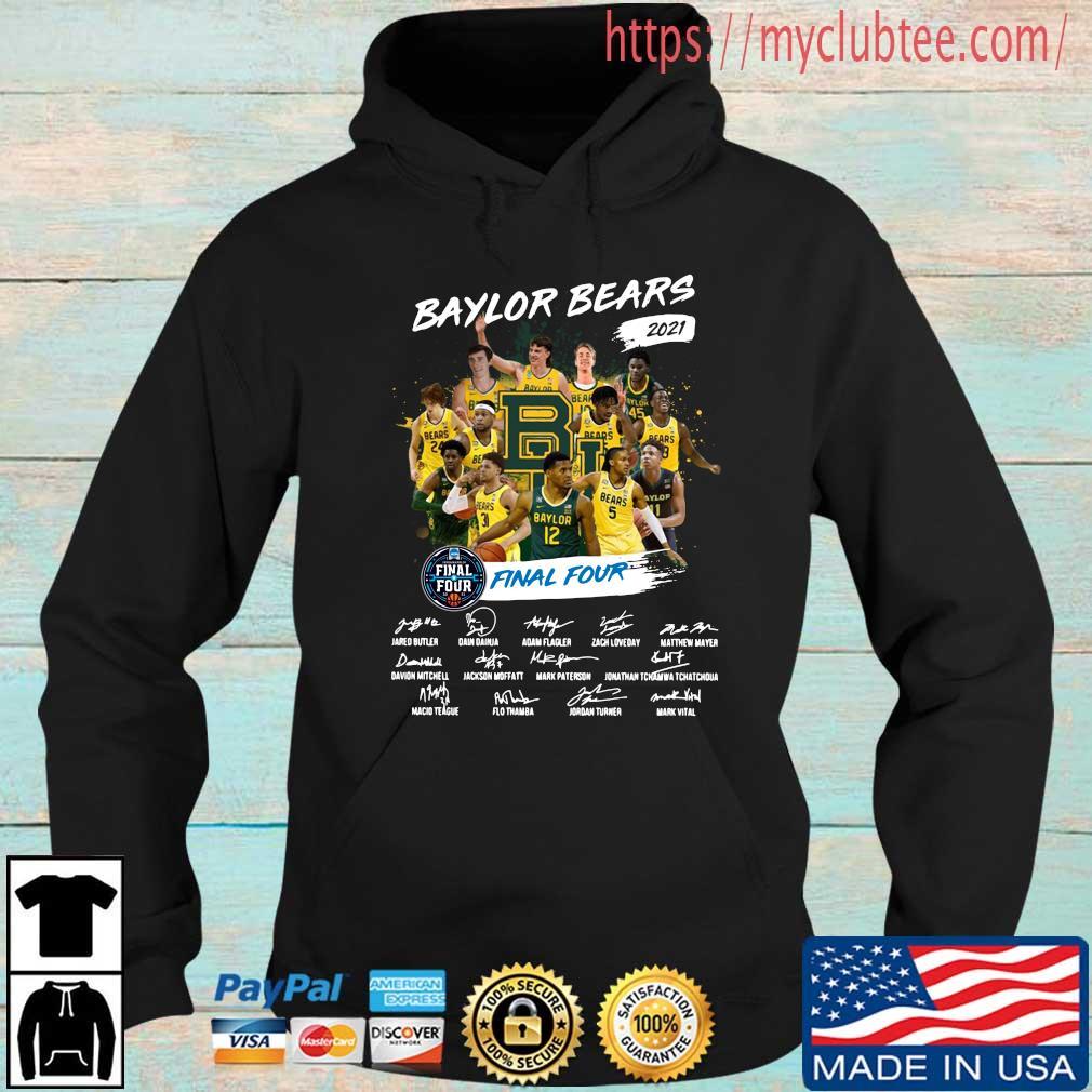 Baylor Bears 2021 Final Four Signatures Shirt Hoodie den