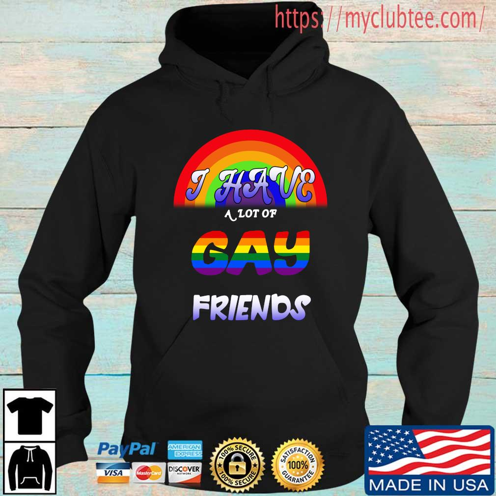 LGBT I have a lot of gay friends Hoodie den
