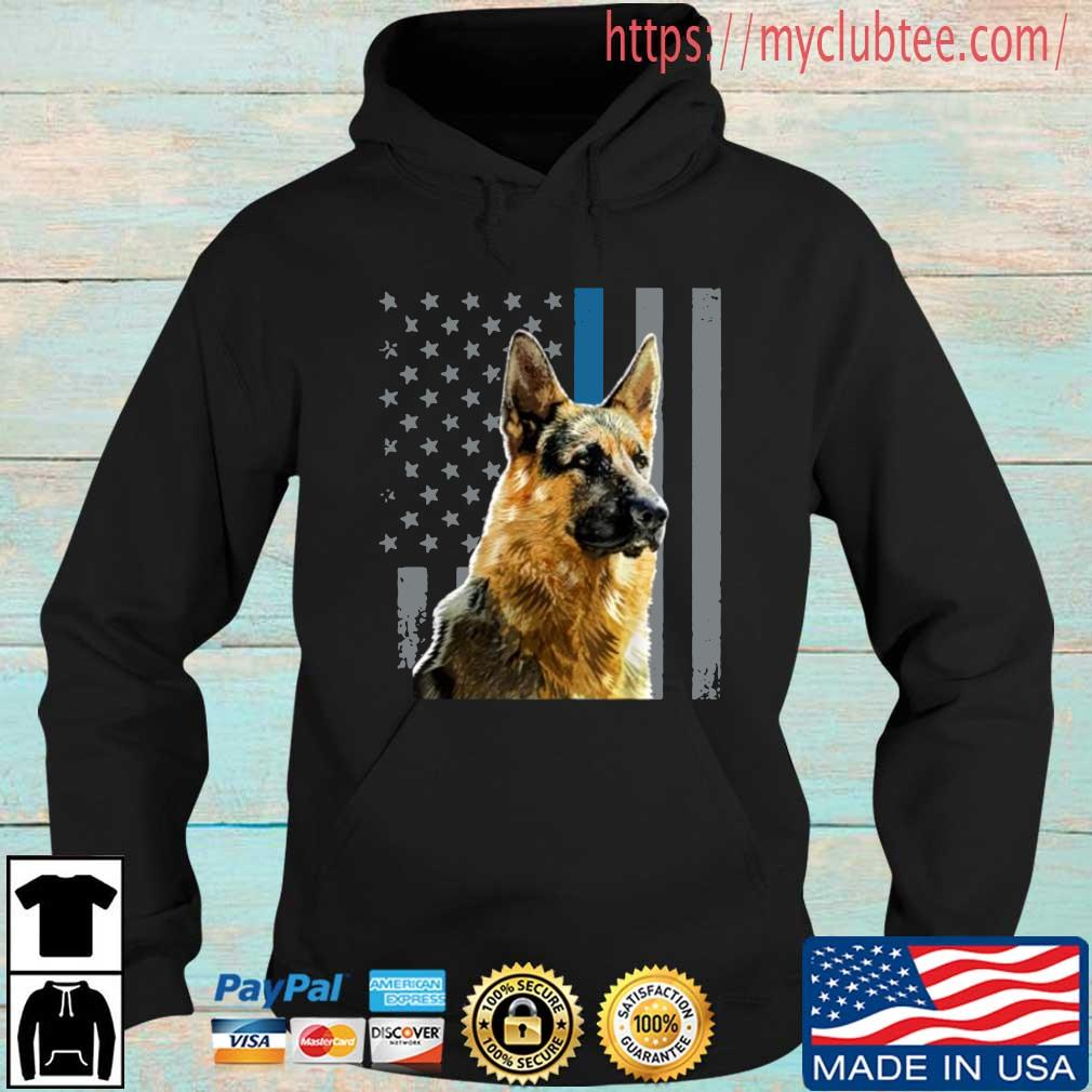 Patriotic Dog German Shepherd American Flag Shirt Hoodie den