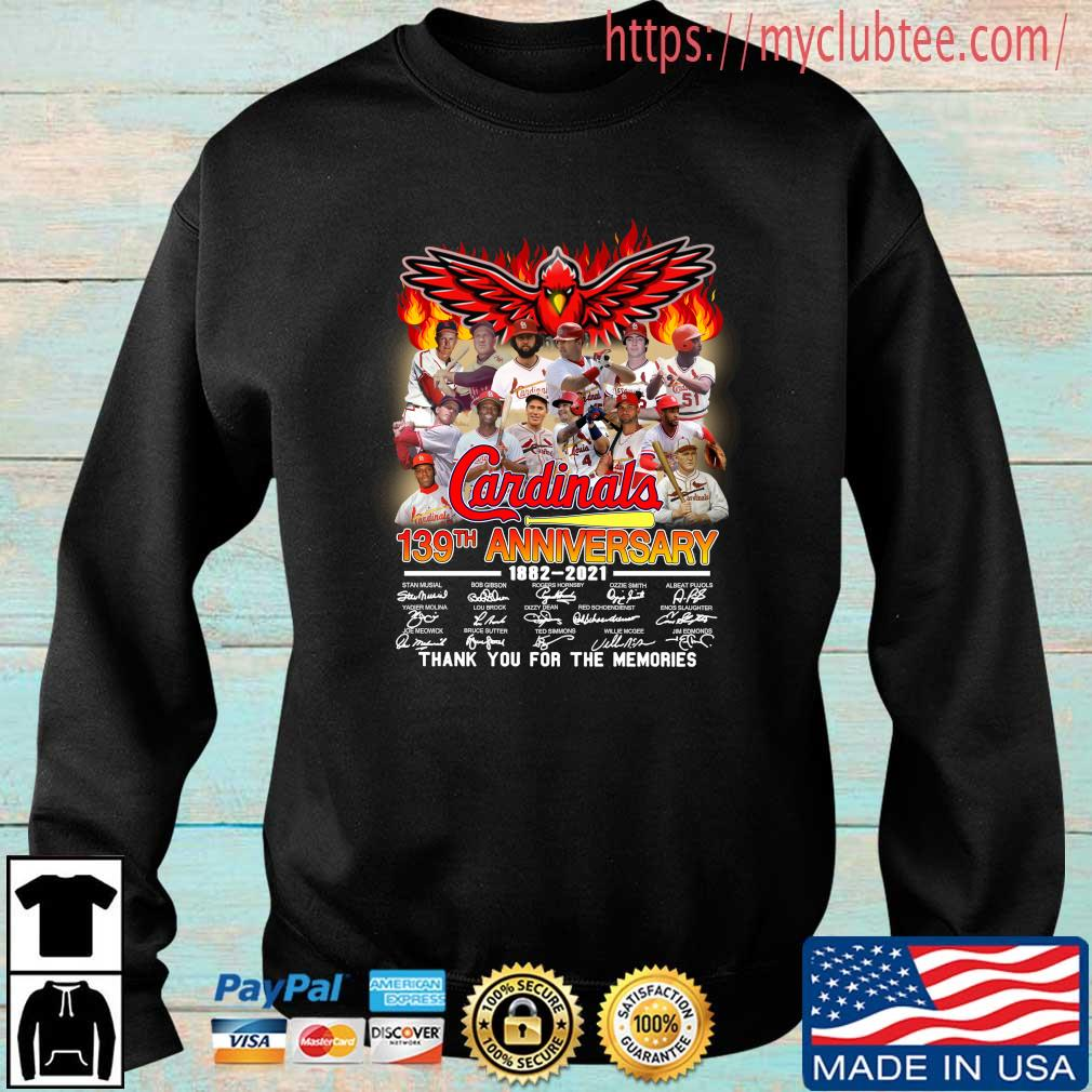 St. Louis Cardinals 139th anniversary 1882-2021 thank you for the memories signatures Sweater trang