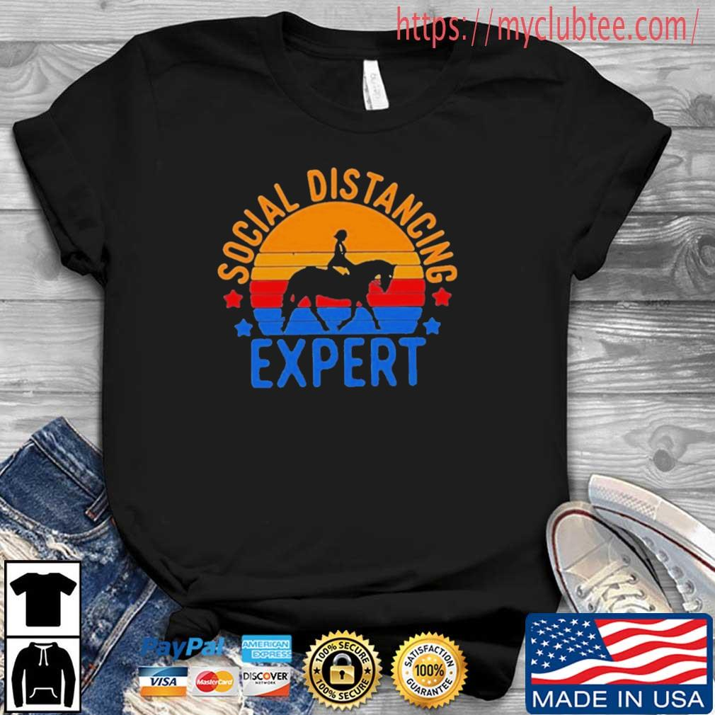Women Horse Riding Social Distancing Expert Vintage Shirt