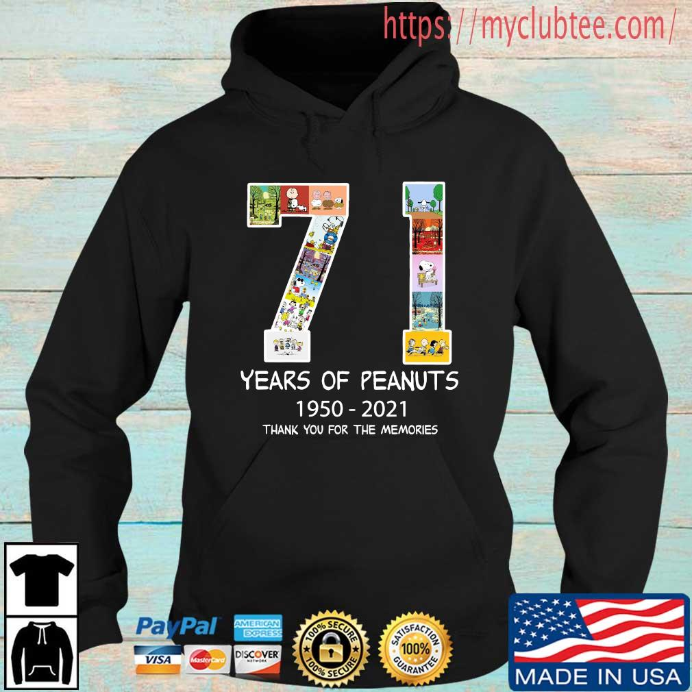 71 years of Peanuts 1950-2021 thank you for the memories Hoodie den