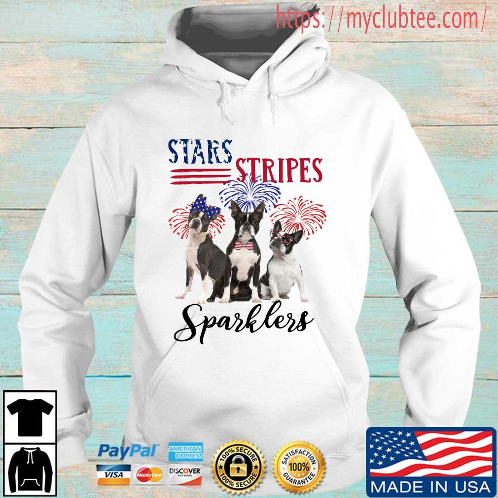 French bulldog stars stripes sparklers 4th Of July Hoodie trang