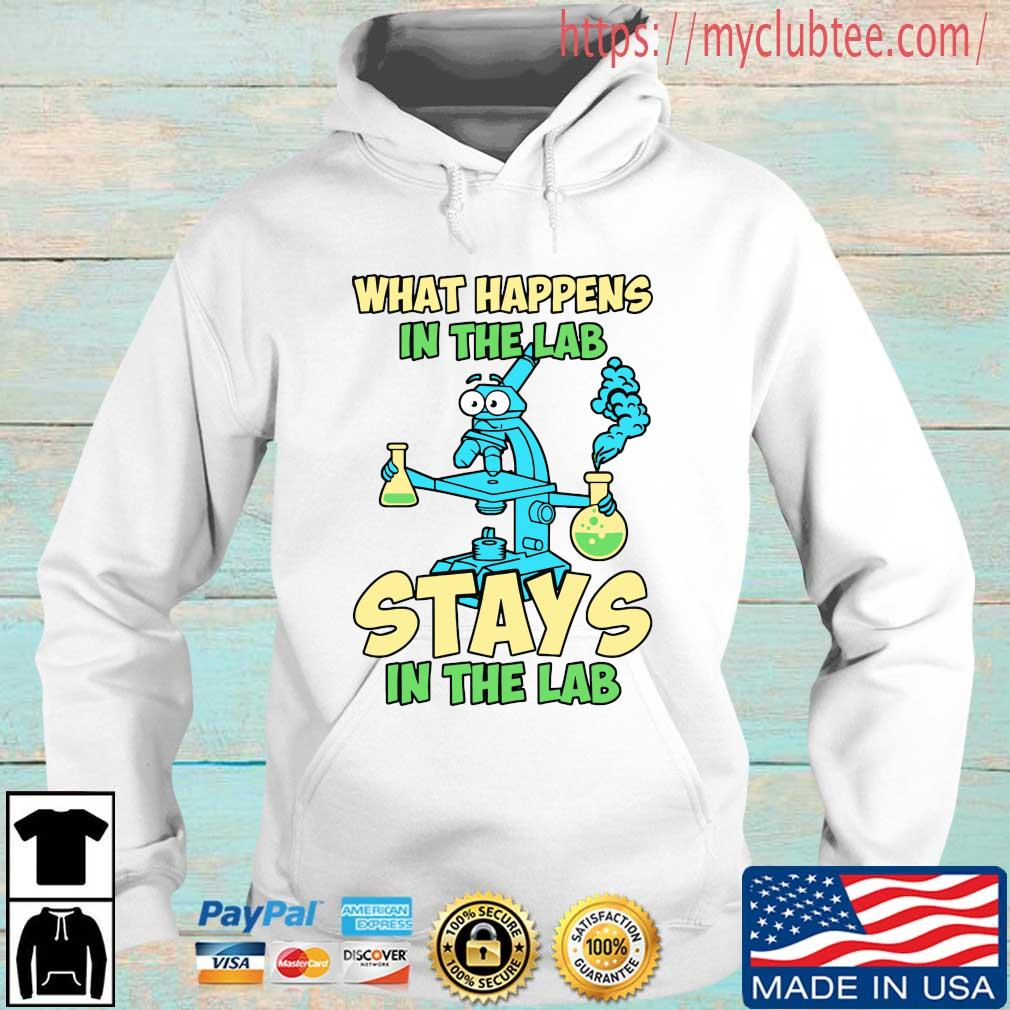 What happens in the lab stays in the lab Hoodie trang