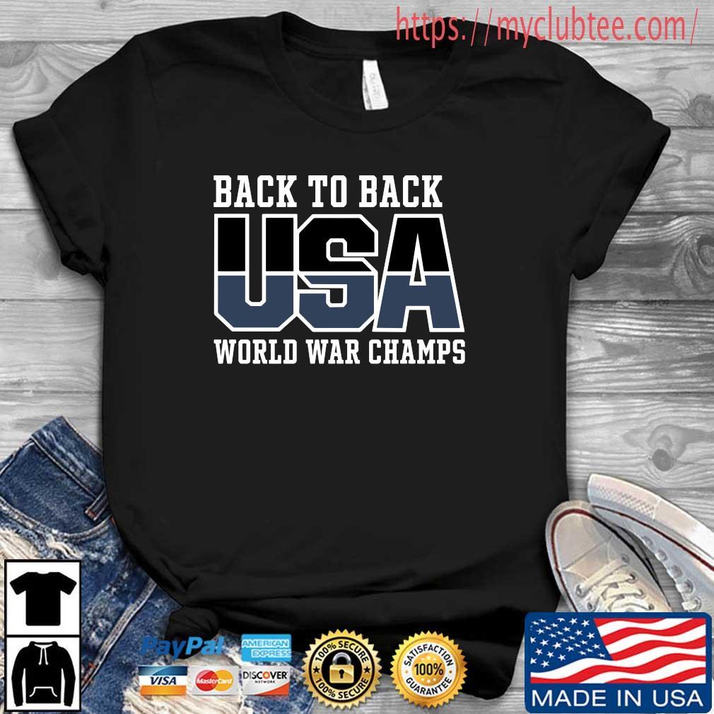 Official back to back USA world war champs shirt