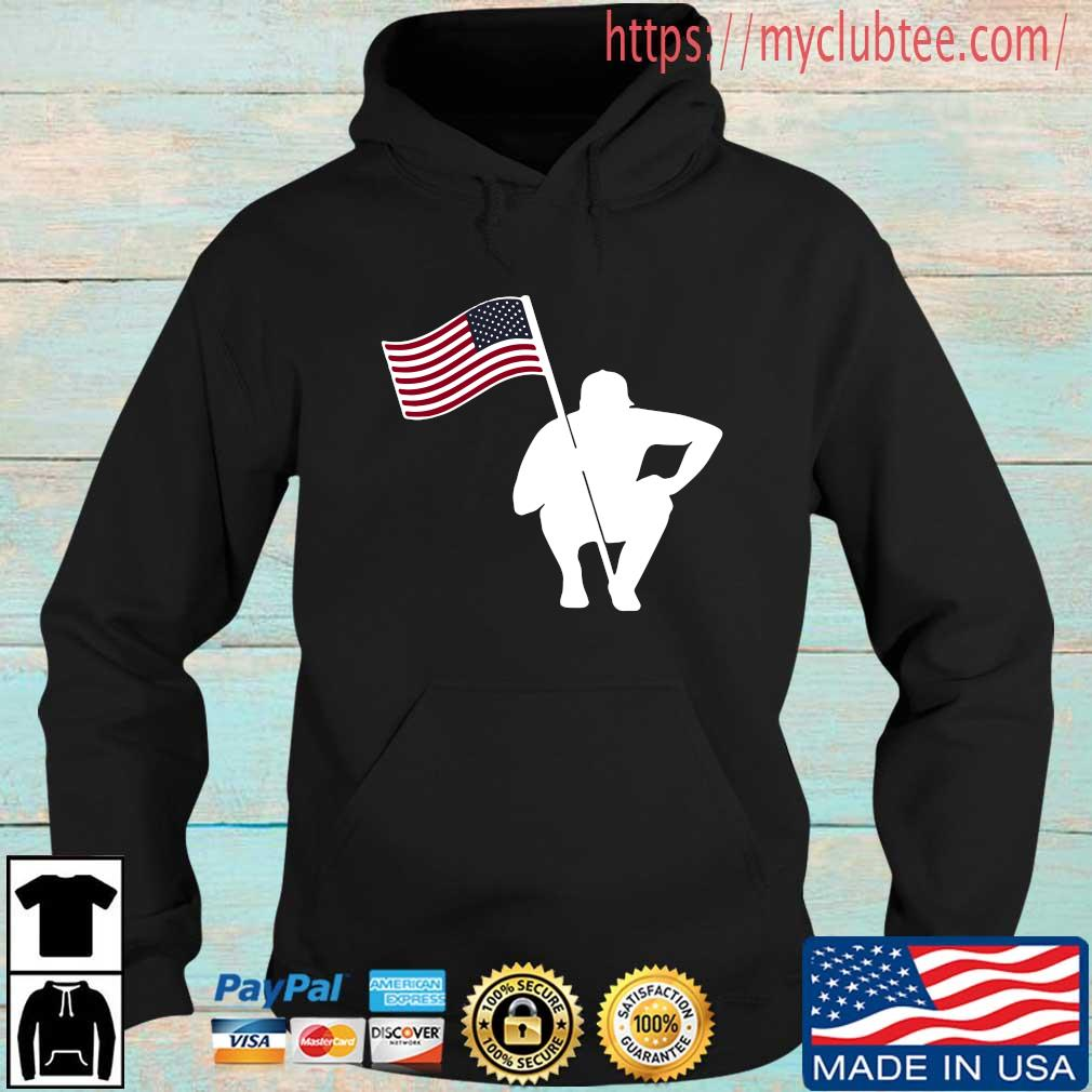 The Caddie Network American Flag Shirt Hoodie den