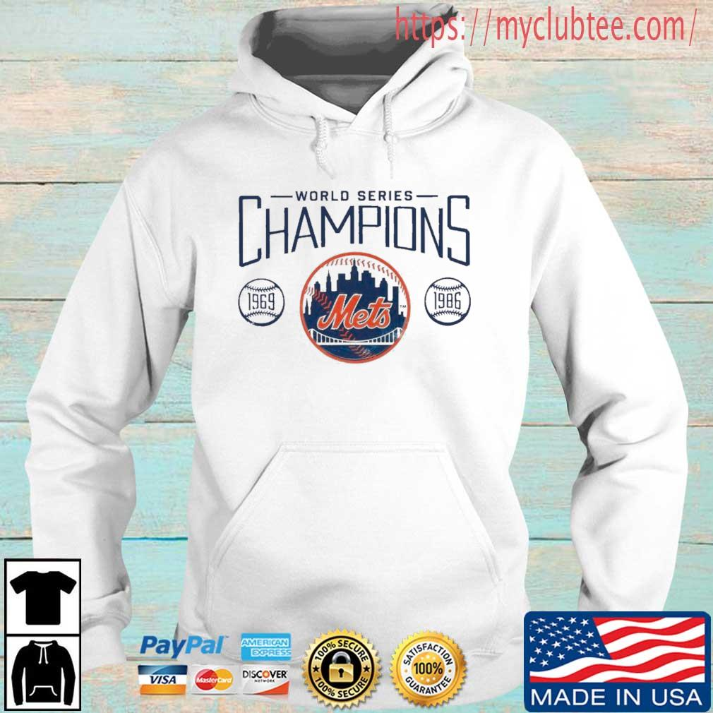 New York Mets Fanatics Branded Royal 1986 World Series 35th Anniversary Charge The Mound Shirt Hoodie trang