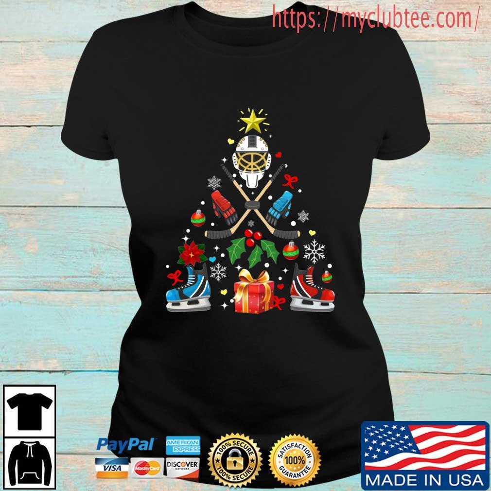 Hockey Christmas tree sweater Ladies den