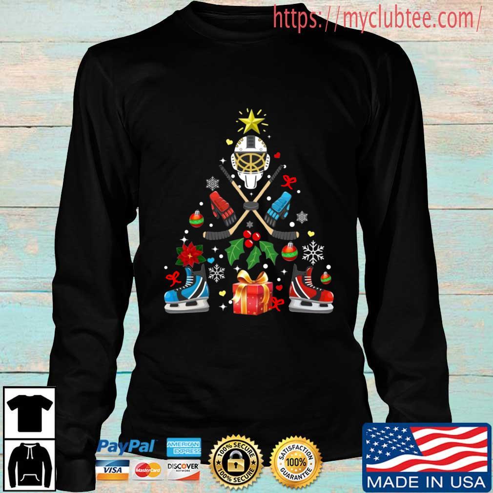 Hockey Christmas tree sweater Longsleeve den