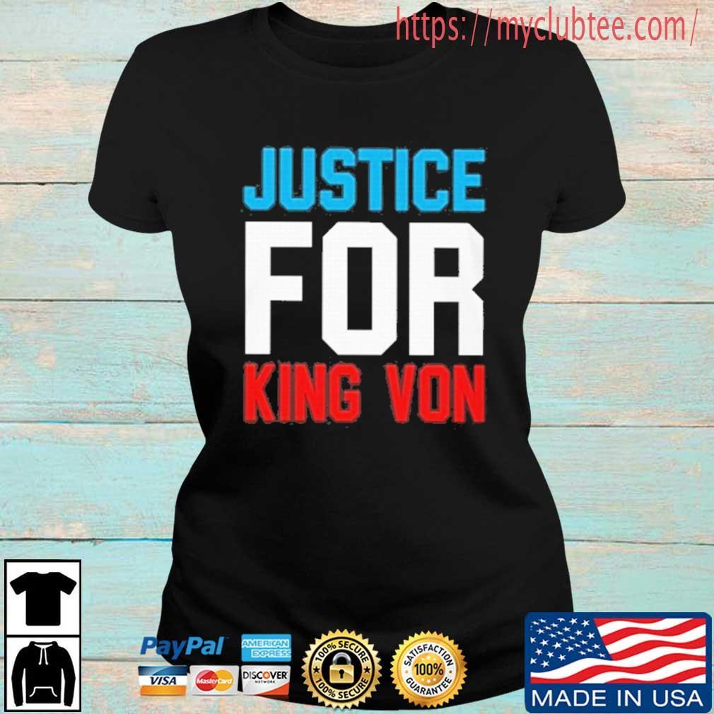 Justice For King Von T-Shirt Ladies den