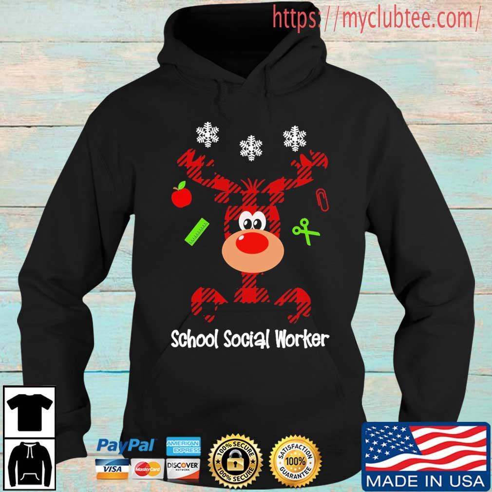 Reindeer School Social Worker Christmas sweater