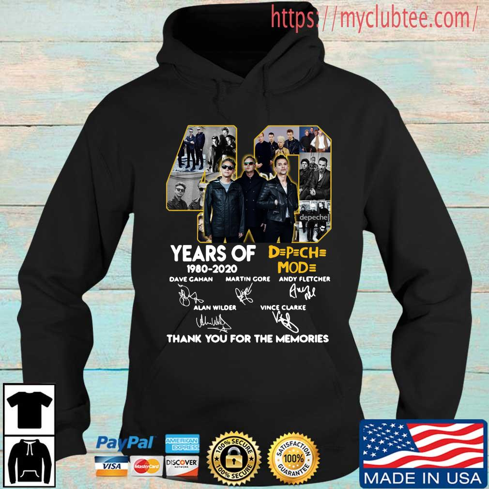 40 years of DPCH MOD 1980 2020 signatures thank you for the memories shirt