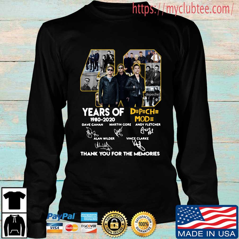 40 years of DPCH MOD 1980 2020 signatures thank you for the memories s Longsleeve den