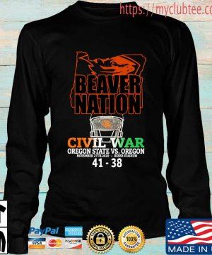 Beaver nation civil war Oregon State vs Oregon 4138 s Longsleeve den