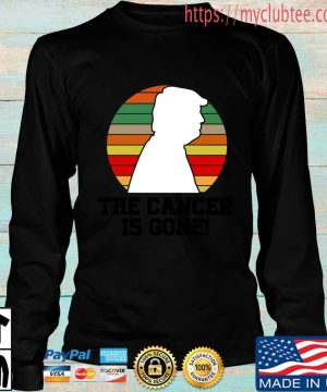Donald Trump the cancer is gone vintage sweater, s Longsleeve den