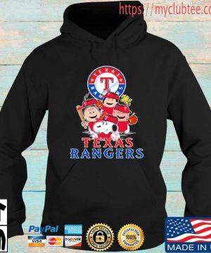 MLB Texas Rangers Snoopy Charlie Brown Woodstock The Peanuts Movie Baseball Shirt Hoodie den
