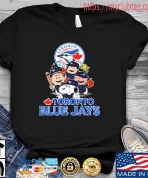 MLB Toronto Blue Jays Snoopy Charlie Brown Woodstock The Peanuts Movie Baseball Shirt